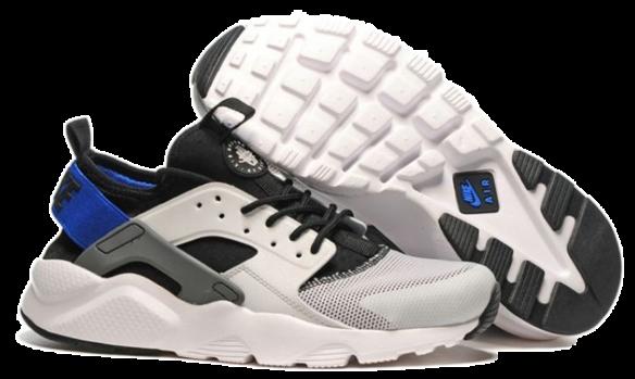 1c00e95e Кроссовки Nike Air Huarache Ultra BR (White-Black-Blue) в Сургуте ...